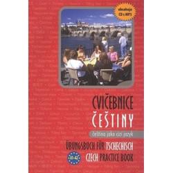 Cvičebnice češtiny, čeština jako cizí jazyk + mp3 A1–A2