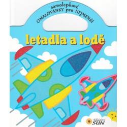 Letadla a lodě - Samolepkové omalovánky pro nejmenší