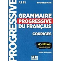 Grammaire Progressive du français A2-B1 Intermédiaire - Corrigés, + 450 nouveaux tests et activités en ligne