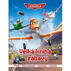 Letadla - Velká kniha zábavy - čtení, omalovánky, hádanky, pexexo