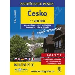 Česko - velký autoatlas 2016/2017, 1:200 000