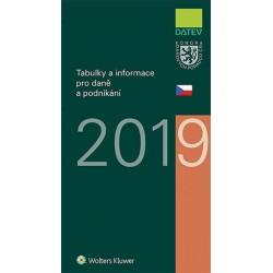 Tabulky a informace pro daně a podnikání 2019