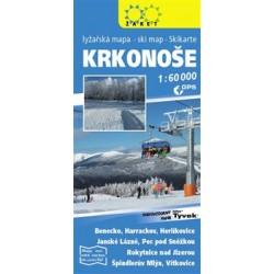 Krkonoše - lyžařská mapa  1:60 000