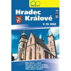 Hradec Králové, knižní plán města 1:15 000