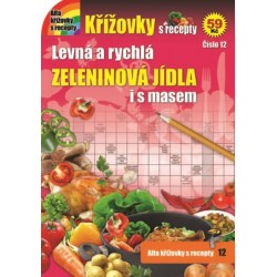 Křížovky s recepty 12 - Zeleninová jídla i s masem