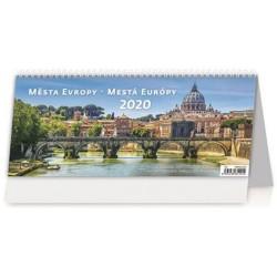 Kalendář stolní 2020 - Města Evropy/Mestá Europy