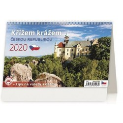 Kalendář stolní 2020 - Křížem krážem Českou republikou