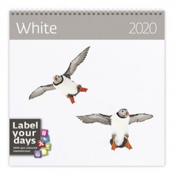 Kalendář nástěnný 2020 - White