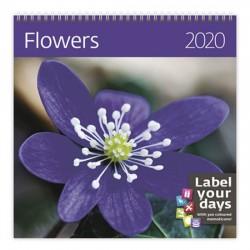 Kalendář nástěnný 2020 - Flowers