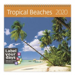 Kalendář nástěnný 2020 - Tropical Beaches