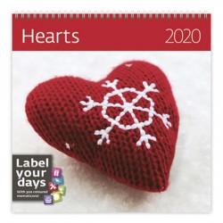 Kalendář nástěnný 2020 - Hearts