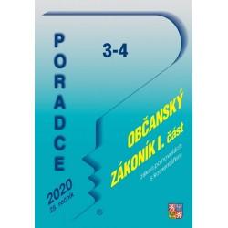 Poradce 3-4/2020 Občanský zákoník s komentářem - Soukromé právo, Rodinné právo, Absolutní majetková práva