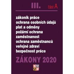 Zákony III část A 2020 – Pracovní právo - Úplná znění po novelách k 1. 1. 2020