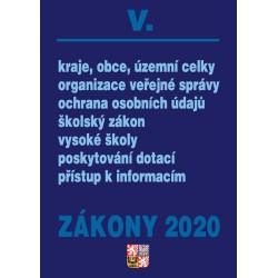 Zákony V 2020 – Veřejná správa, Školství - Úplná znění po novelách k 1. 1. 2020