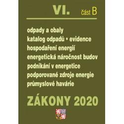 Zákony VI část B 2020 – Odpady, Obaly - Úplná znění po novelách k 1. 1. 2020