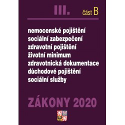 Zákony III část B 2020 – Odvody – Úplná znění po novelách k 1. 1. 2020