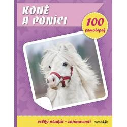 Koně a poníci - Plakát a 100 samolepek
