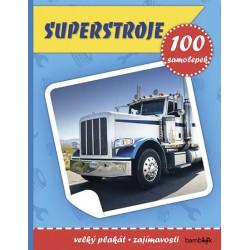 Superstroje - Plakát a 100 samolepek
