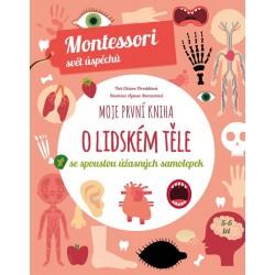 Moje první kniha o lidském těle se spoustou úžasných samolepek - Montessori svět úspěchů