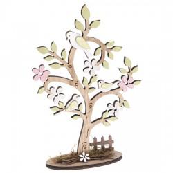 Dřevěná dekorace - Strom 18 x 27 cm