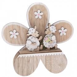 Dřevěná dekorace - Květina 20 cm