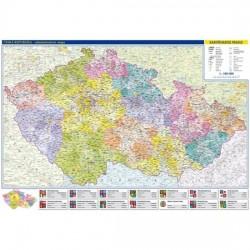 Česká republika - administrativní mapa 1:500 tis.