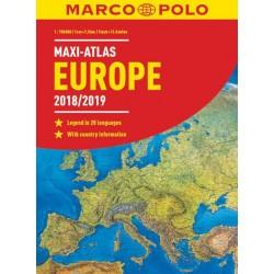 Europe 2018/19 maxi atlas 1:750 000