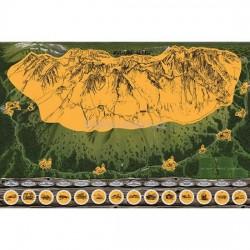 Stírací mapa Vysoké Tatry – zlatá Deluxe XL