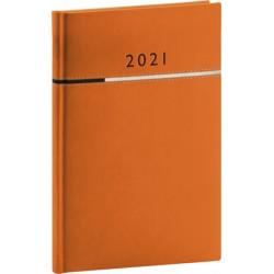 Diář 2021: Tomy - oranžovočerný - týdenní, 15 × 21 cm