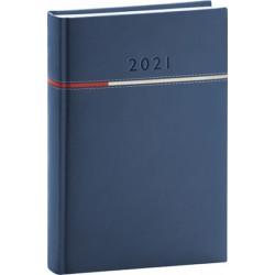 Diář 2021: Tomy - modročervený - denní, 15 × 21 cm