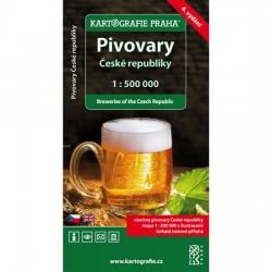 Pivovary České republiky s brožurou/1:500 tis.(tematická mapa)