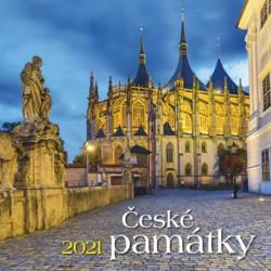 Kalendář 2021 - České památky, nástěnný