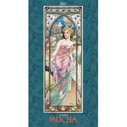 Kalendář 2021 - Alfons Mucha, nástěnný