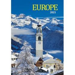 Kalendář 2021 - Europe, nástěnný