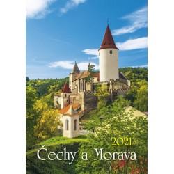 Kalendář 2021 - Čechy a Morava, nástěnný
