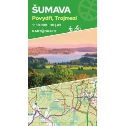 Šumava, Povydří, Trojmezí 38|49 - oboustranná turistická mapa 1:50 000
