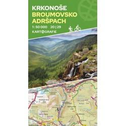 Krkonoše, Broumovsko, Adršpach (20/29) - oboustranná turistická mapa 1:50 000