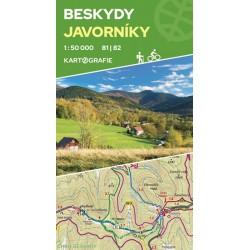 Beskydy, Javorníky 81|82 - oboustranná turistická mapa 1:50 000
