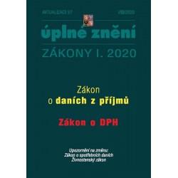 Aktualizace I/7 2020 - Úplné znění Zákona o daních z příjmů a Zákona o dani z přidané hodnoty
