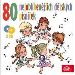 80 nejoblíbenějších dětských písniček - 2 CD