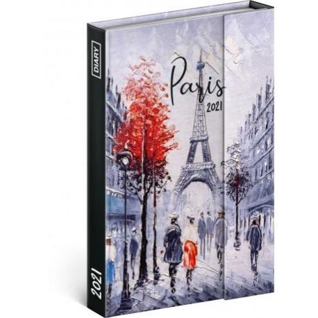 Diář 2021: Paříž - týdenní, magnetický, 11 × 16 cm (Západní verze)