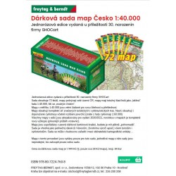 Dárková sada map Česko 1:40.000 Turistická mapa
