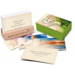 Naděje/To nejlepší je před námi - karty s dřevěným stojánkem