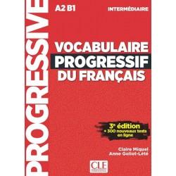 Vocabulaire progressif FLE intermédiaire 3eme édition + CD