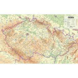 Česko - nástěnná fyzická mapa 1 : 500 000