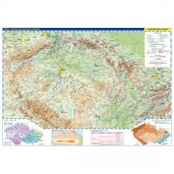 Česká republika - školní nástěnná fyzická mapa 1:375 tis./136x96 cm