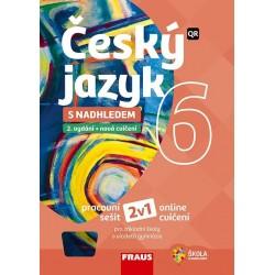 Český jazyk 6 s nadhledem pro ZŠ a víceletá gymnázia - Hybridní pracovní sešit 2v1