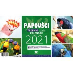 Kalendář 2021 Papoušci - týdenní stolní