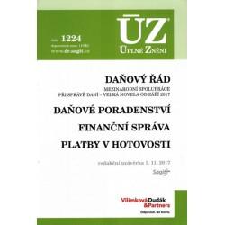 ÚZ 1224 Daňový řád, Finanční správa, Daňové poradenství, Platby v hotovosti