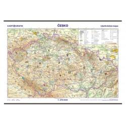 Česko - vlastivědná školní nástěnná mapa, 1:375 000